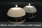 Stone Tealight Holder with Cooper