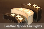 Leather Moon Tealights