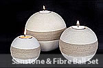 Sandstone and Fibre Ball Set